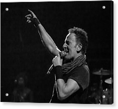 Acrylic Print featuring the photograph Bruce Springsteen In Cleveland by Jeff Ross