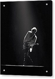 Bruce Springsteen In The Spotlight Acrylic Print by Mike Norton