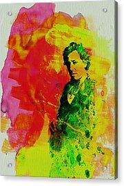 Bruce Springsteen Acrylic Print by Naxart Studio