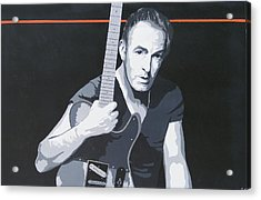 Bruce Springsteen Acrylic Print by Ken Jolly
