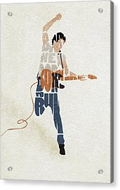 Bruce Springsteen Typography Art Acrylic Print