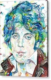 Bruce Springsteen - Watercolor Portrait.14 Acrylic Print
