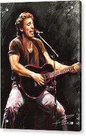 Bruce Springsteen  Acrylic Print by Ylli Haruni