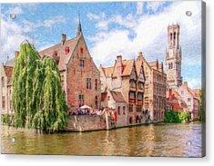 Bruges Canal Belgium Dwp-2611575 Acrylic Print