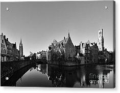 Bruges Acrylic Print by Nichola Denny