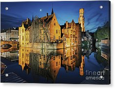 Brugge Acrylic Print by JR Photography