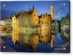 Brugge Twilight Acrylic Print by JR Photography