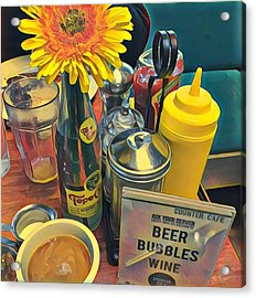 Brunch At Counter Cafe Acrylic Print