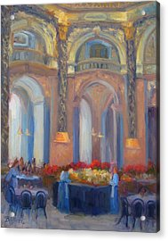 Brunch At The Museum Acrylic Print by Bunny Oliver
