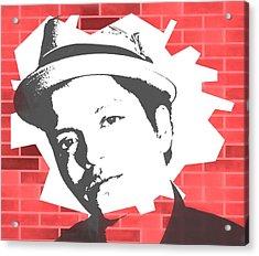 Bruno Mars Graffiti Tribute Acrylic Print by Dan Sproul