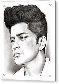 Bruno Mars Acrylic Print by Greg Joens