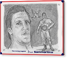 Bruno Sammartino The Living Legend Acrylic Print by Chris  DelVecchio