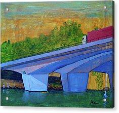 Acrylic Print featuring the painting Brunswick River Bridge by Paul McKey