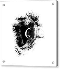 Brushstroke C -monogram Art By Linda Woods Acrylic Print
