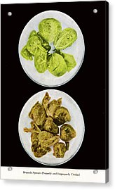 Brussel Sprouts Right And Wrong Acrylic Print by John Scariano