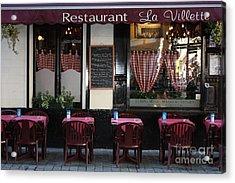 Brussels - Restaurant La Villette Acrylic Print by Carol Groenen