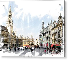 Brussels Grote Markt  Acrylic Print