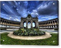 Acrylic Print featuring the photograph Brussels Parc Du Cinquantenaire by Shawn Everhart