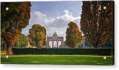 Brussels Park Acrylic Print by Joan Carroll