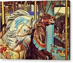Bryant Park Carrousel Acrylic Print by JAMART Photography