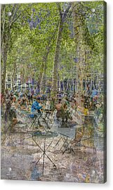 Bryant Park Collage 2 Acrylic Print