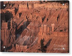 Bryce Canyon At The Golden Hour Acrylic Print by Stan and Anne Foster