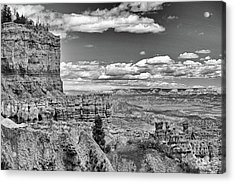 Bryce Canyon In Black And White Acrylic Print by Nancy Landry