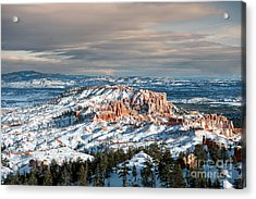 Bryce Canyon In Winter Acrylic Print