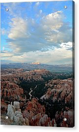 Acrylic Print featuring the photograph Bryce Canyon Skyview by Bruce Gourley