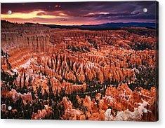 Bryce Canyon Sunset Acrylic Print by Nolan Nitschke