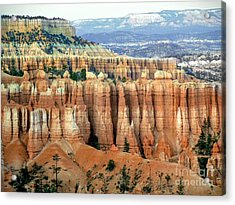 Bryce Canyon Vertical Hoodoos Acrylic Print by Rincon Road Photography By Ben Petersen