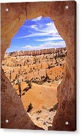 Bryce Canyon Window Acrylic Print by Alan Lenk
