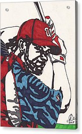 Bryce Harper 1 Acrylic Print by Jeremiah Colley