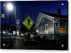 Bryson City Depot At Night Acrylic Print