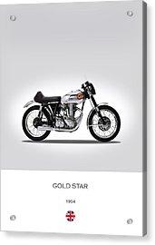 Bsa Gold Star 1954 Acrylic Print by Mark Rogan
