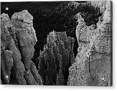 Btyce Canyon Np I Bw Acrylic Print by David Gordon
