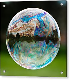 Acrylic Print featuring the photograph Bubble by Brian Bonham