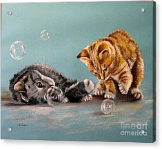 Bubble Cats Acrylic Print