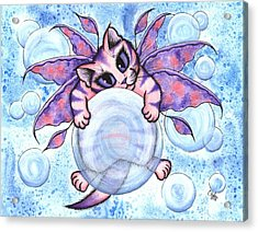 Bubble Fairy Kitten Acrylic Print