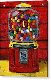 Bubble Gum Bank Acrylic Print