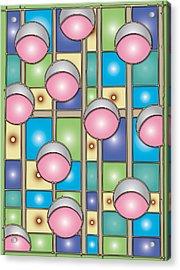 Bubble Gum Holidays Acrylic Print by Marta Podkul
