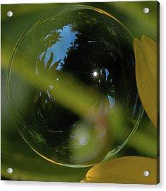 Bubble In The Garden Acrylic Print