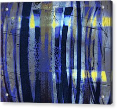 Bubble Lines Acrylic Print by Susan  Epps Oliver