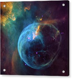 Acrylic Print featuring the photograph Bubble Nebula by Marco Oliveira
