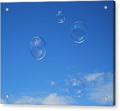 Bubble Play Acrylic Print by Marilynne Bull