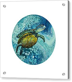 Acrylic Print featuring the painting Bubble Surfer  by Darice Machel McGuire