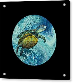 Acrylic Print featuring the painting Bubble Surfer On Black by Darice Machel McGuire