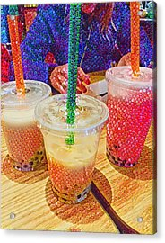 Bubble Tea For Three Acrylic Print