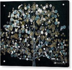 Bubble Tree Night Acrylic Print by Mindy Sommers