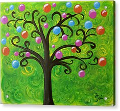 Bubble Tree Acrylic Print by Oiyee At Oystudio